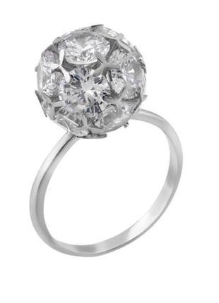 Кольцо серебро 925 шар  вс001