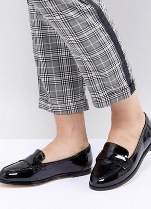 Лаковые лоферы, туфли , лаковые туфли лаковые лоферы asos