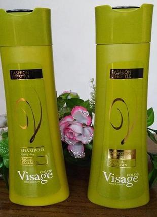 Шампунь та кондиціонер для щоденного використання visage, unice 250 мл