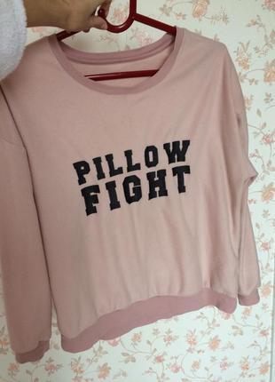 Уютный свитер цвет пыльной розы s-m