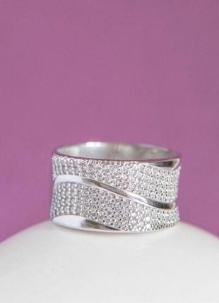 Кольцо серебро 925 широкое лк0225