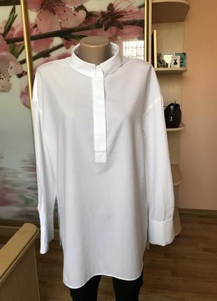 Фирменная котоновая оверсайз рубашка от cos 38, м