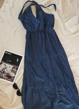 Джинсовое платье в пол 🌸