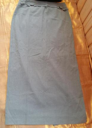 Стильная юбка макси с разрезом хаки bella passini s/m