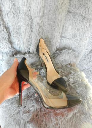 ✅ шикарные туфли с прозрачными вставкаи