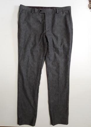 Фирменные бомбезные полушерстяные брюки штаны 34р.