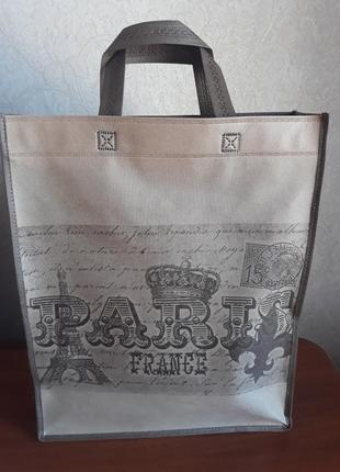Женская эко сумка париж, сумка, еко сумка, сумочка із спанбонду, сумка жіноча