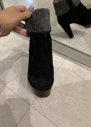 Итальянские замшевые ботинки