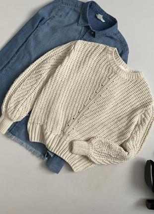 Невероятный велюровый свитер с объемными рукавами h&m