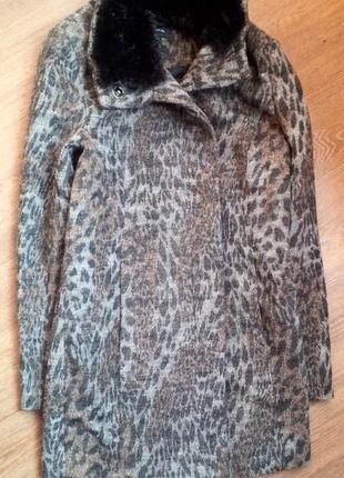 Шерстяное пальто 42-44