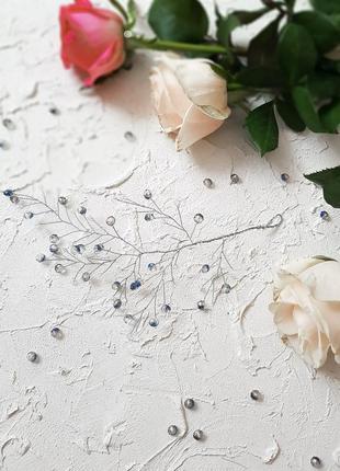 Украшение из бусин и проволоки для волос, свадебные украшения