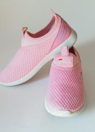 Спортивные кеды для девочки без шнуровки