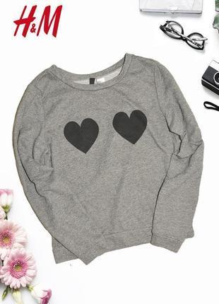Новый свитшот с сердцами на груди h&m