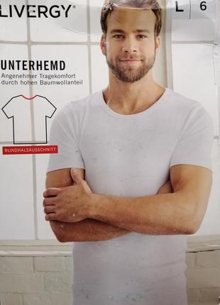 Бельевая хлопковая футболка белого цвета