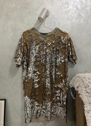 Платье bershka в двусторонние пайетки