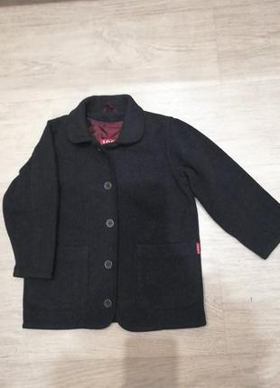 Пальто шерстяное со съемной подстёжкой новое l.o.g.g р.110