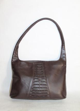 Компактная кожаная сумка 100% натуральная кожа