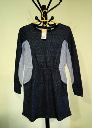Теплое серое платье для девочки pepperts