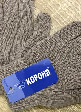 Тёплые перчатки корона
