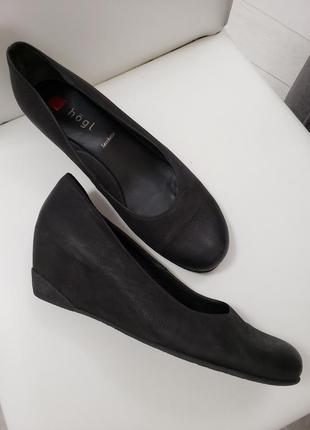 Туфли кожаные р-р 41 на стопу 26,3-26,5см