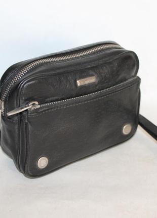 Актуальная мужская кожаная сумка/барсетка/клатч 100% натуральная кожа от neri karra