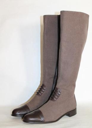 Модные кожаные сапоги panara италия 38 размер премиум бренд