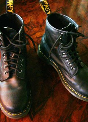 Мартинсы dr.martens ботинки кожа