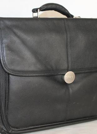 Большая кожаная сумка для ноутбука dell