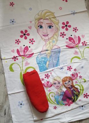 Комплект постельного белья в кроватку для девочки frozen холодное сердце