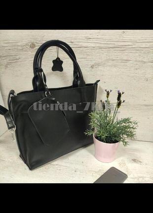 Женская сумка из натуральной кожи 9016 черная