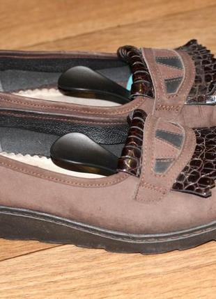 Шикарные туфли из натуральной кожи rieker
