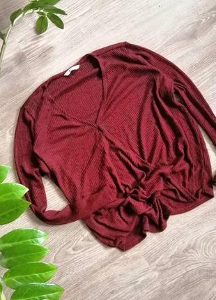 Пуловер в рубчик 🦔