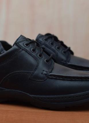 Черные кожаные мужские туфли, ботинки clarks, кларкс. 44 - 45 размер. оригинал