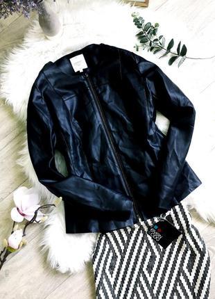 Шикарная куртка экокожа от clockhouse