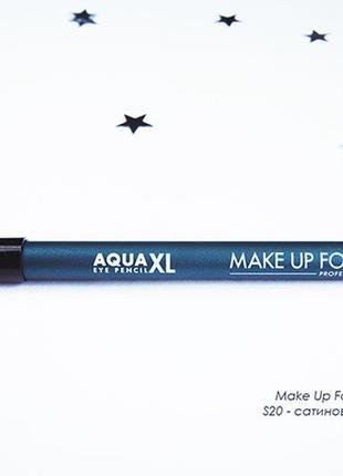 Легендарный водостойкий  карандаш для глаз makeup forever aqua xl s20 satiny navy blue