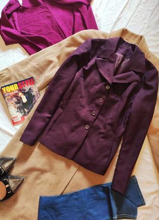 Пиджак жакет бордо марсала классический с карманами бордовый винный