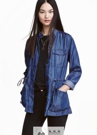 Крутая, легкая, тонкая куртка -карго под джинс lyocell h&m
