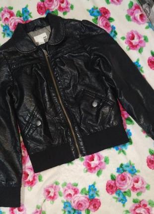 Крутая куртка h&m кож зам