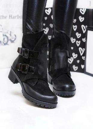 Хитовые ботинки из натурального нубука с затиркой. супер модель!