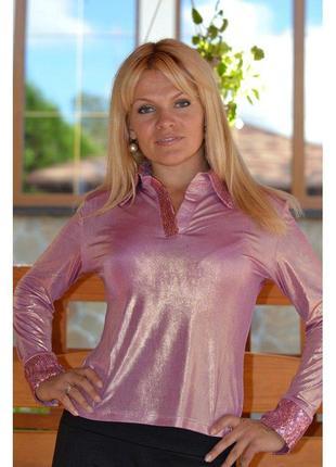 Новая шикарная блуза с напылением серебро металлик!