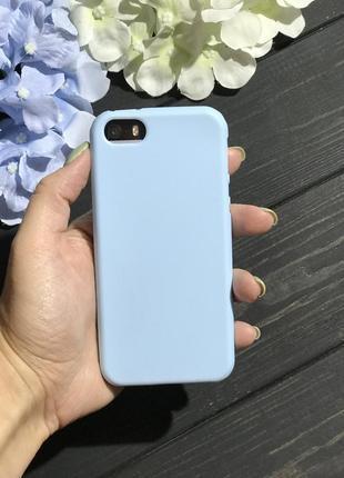 Матовый плотный силиконовый чехол на айфон iphone 5/5s se