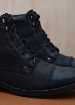 Черные кожаные мужские ботинки clarks, кларкс. 42 размер. оригинал
