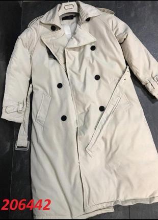 Распродажа шикарная новинка утепленное пальто-плащ.