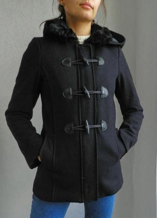 Шикарное теплющее пальто 60% шерсть1 фото