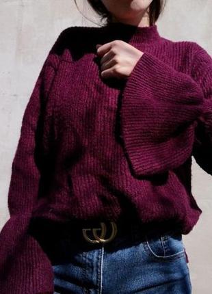 Свитер кофта рукава воланами primark джемпер пуловер под горло