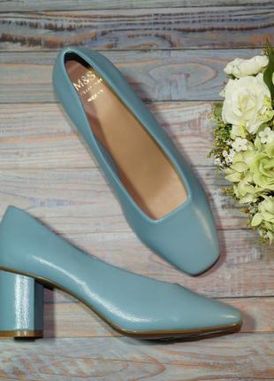 🌿бесплатная доставка🌿37🌿marks&spenser. роскошные фирменные туфли на удобном каблучке