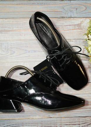 🌿бесплатная доставка🌿38🌿forever 21. фирменные туфли на шнуровке и оригинальном каблуке