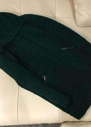 Изумрудное пальто-кокон primark, m-l