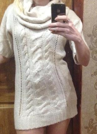 Вязанная туника свитер.