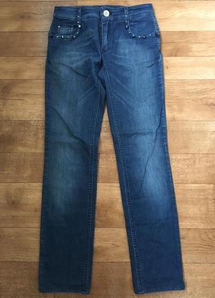 Джинсы италия. джинсы rocco barocco. синие джинсы